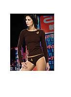 Майки женские футболка длинный рукав KOSZULKA ATLANTIC LVS-312 Женская одежда Польша
