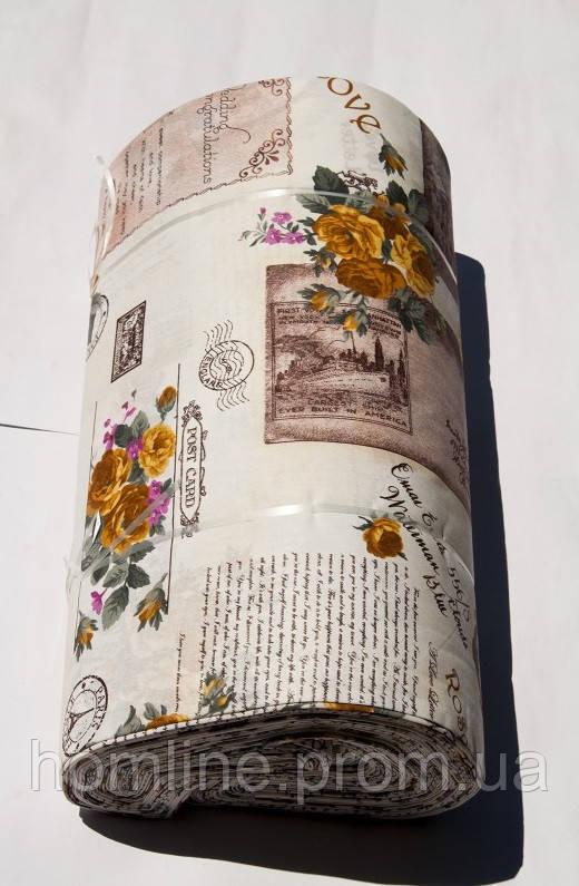 Ткань ранфорс Турция Love Letter V-3 кофе 12241 (220 ширина)