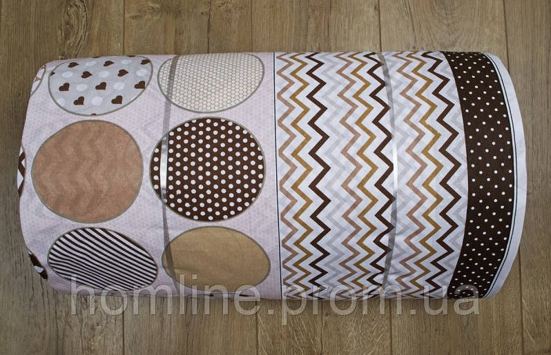 Ткань ранфорс Турция Maki кофе 115987 (220 ширина)