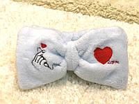 Косметическая повязка Голубая с сердцем