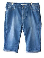 Женские джинсовые бриджи батал