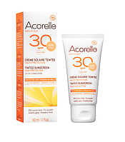 Органический крем для лица солнцезащитный, SPF 30 с эффектом тонирования Золото Acorelle,50 мл