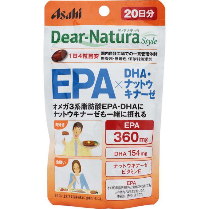 Asahi Dear Natura Omega-3 (EPA DHA + наттокиназа 80 капс на 20 днів