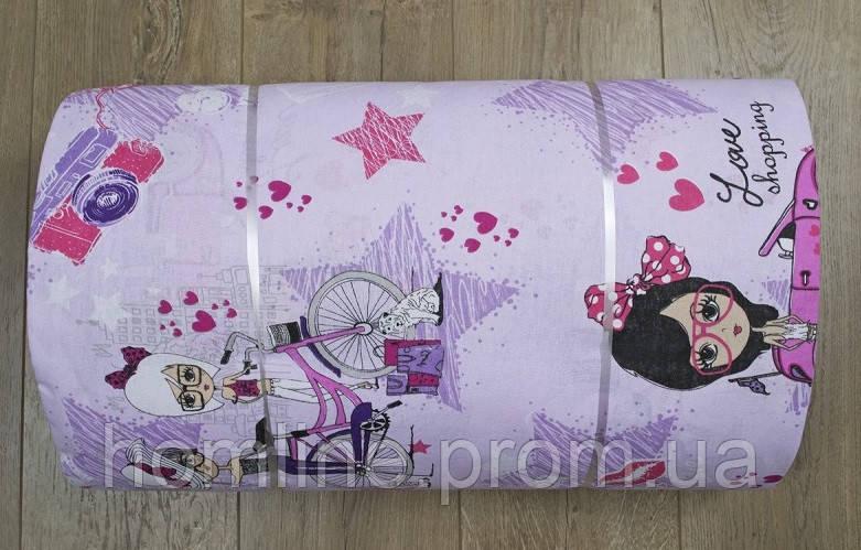 Ткань ранфорс Турция Fashion лиловый 105701 (220 ширина)