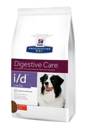 Хиллс i/d Low Fat диета для собак при заболевании ЖКТ, панкреатита   12 кг