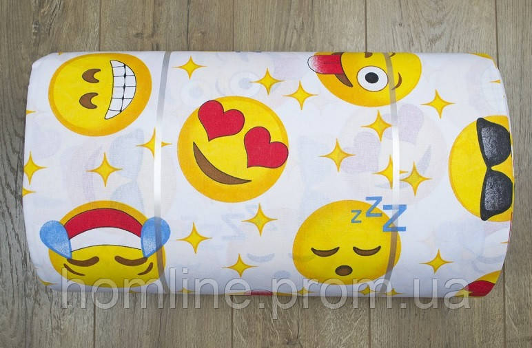 Ткань ранфорс Турция Emoji желтый 6119 (220 ширина)