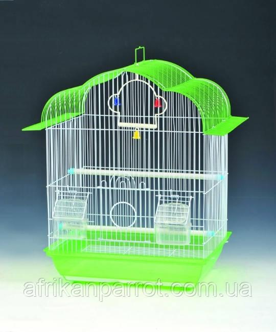 Клетка для мелких птиц. 37*28*48см. (эмаль)