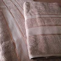 Полотенце махровое баня 70х140 Беж 100% хлопок Узбекистан
