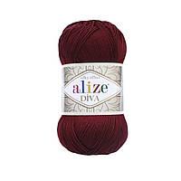 Alize Diva бордовый № 57