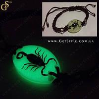 """Браслет с чёрным скорпионом - """"Scorpion Bracelet"""". Светиться в темноте!"""