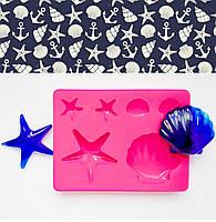 """Молд """"Морська картина"""" палетка для заливки 6 різних форм для смоли, глини, шоколаду"""