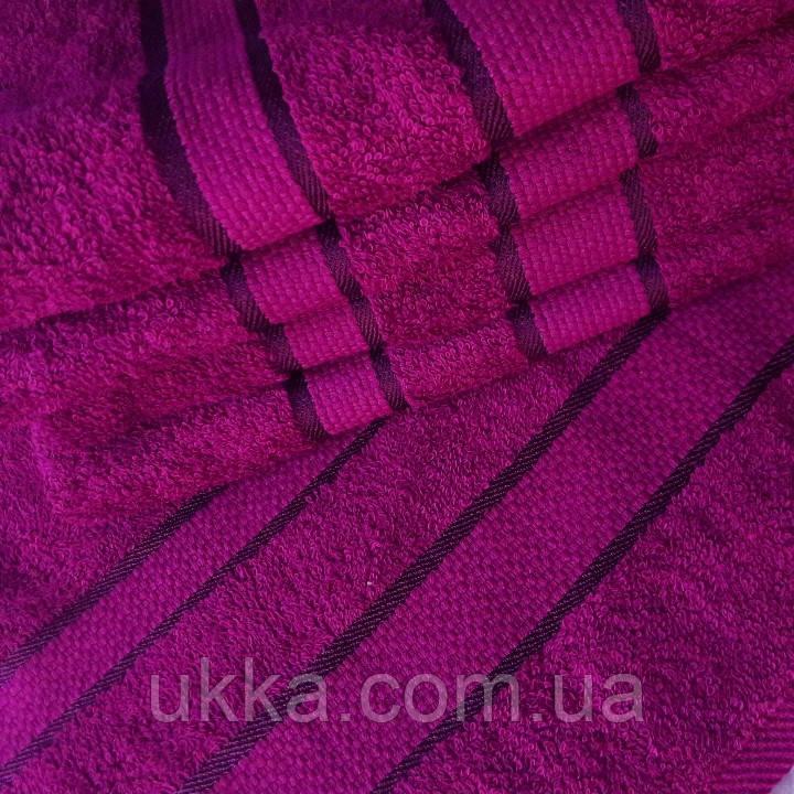 Махровое полотенце для лица 50х90 Фуксия 100% хлопок Узбекистан