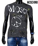 Футболка мужская Moschino с красочным печатным принтом