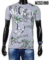 Футболка мужская Moschino ,брендовая мужская футболка.
