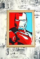 Железный Человек. Постер с рамкой. ХОЛСТ из натурального хлопка(100%)