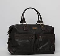 Мужская сумка David Jones Grey, дорожная сумка для командировок, кожаная сумка для поездок