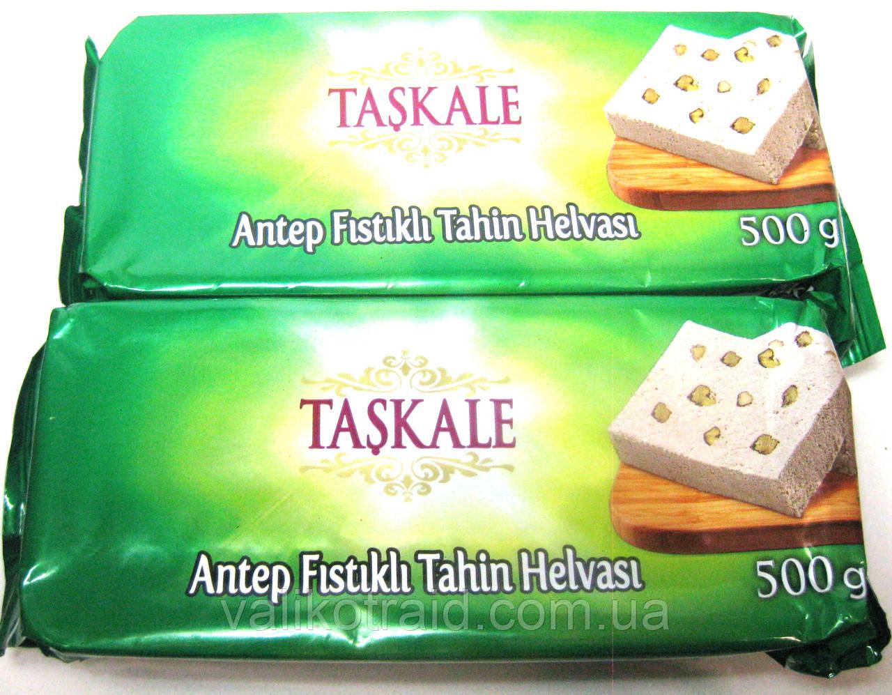 Кунжутная халва с цельным орехом фисташки, Турция , вес 500 гр,  турецкие сладости