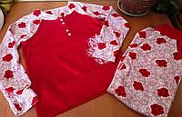 Красный велюровый женский спортивный костюм,  Турция