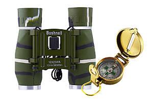 Бинокль 12х25 - BHS (green) + компас TSC-4