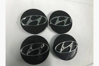 Колпачки в титановые диски 55 мм (4 шт) Hyundai