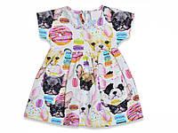 Платье на девочку р.9,12,18,24,36 мес