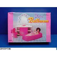Мебель для кукол типа Барби Глория Gloria 94013 Ванная комната, ванная, унитаз, зеркало с раковиной