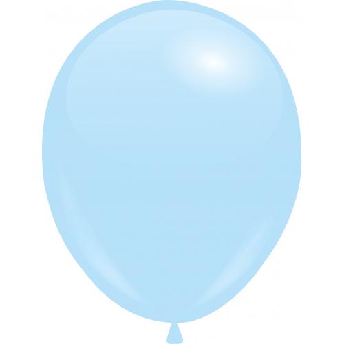 Шар с гелием Нежно-голубой Пастель 26см