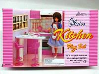 Кукольная мебель Gloria Глория 94016 Кухня, стулья, стойка, плита