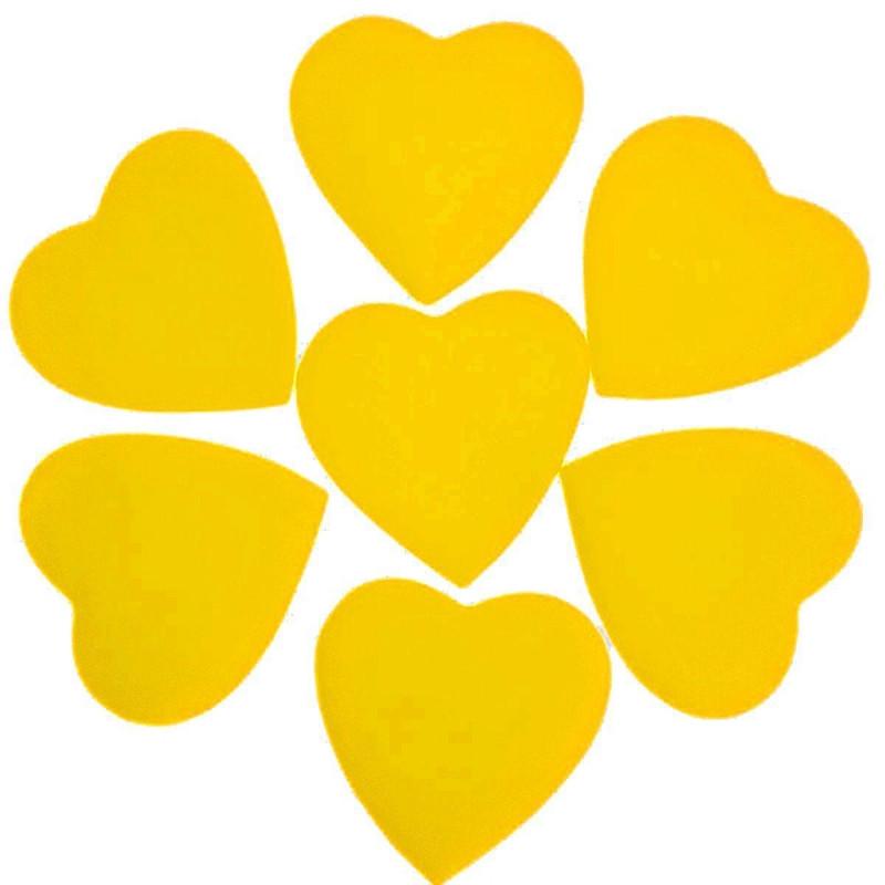 Конфетти Сердца, Жёлтые, 250 гр (большие, 3.5 см)