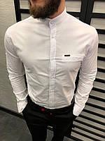 Рубашка мужская белая 6 цветов ЛЮКС КАЧЕСТВО весна лето рубашка белая черная