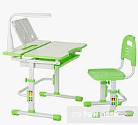 Растущая парта 80см,  стульчик лампа и подставка, Lavoro Green, фото 1