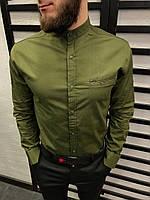 Рубашка мужская зеленая 6 цветов ЛЮКС КАЧЕСТВО весна лето рубашка белая черная