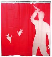 Шторка для душа ванной Психо дизайнерская шторка KIKKERLAND