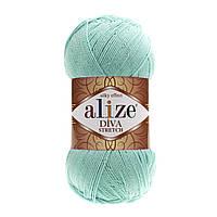 Alize Diva Stretch бирюзовый № 376