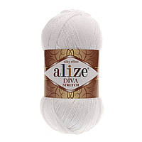 Alize Diva Stretch белый № 55