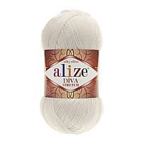 Alize Diva Stretch молочный № 62