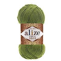 Alize Diva Stretch зеленый № 210