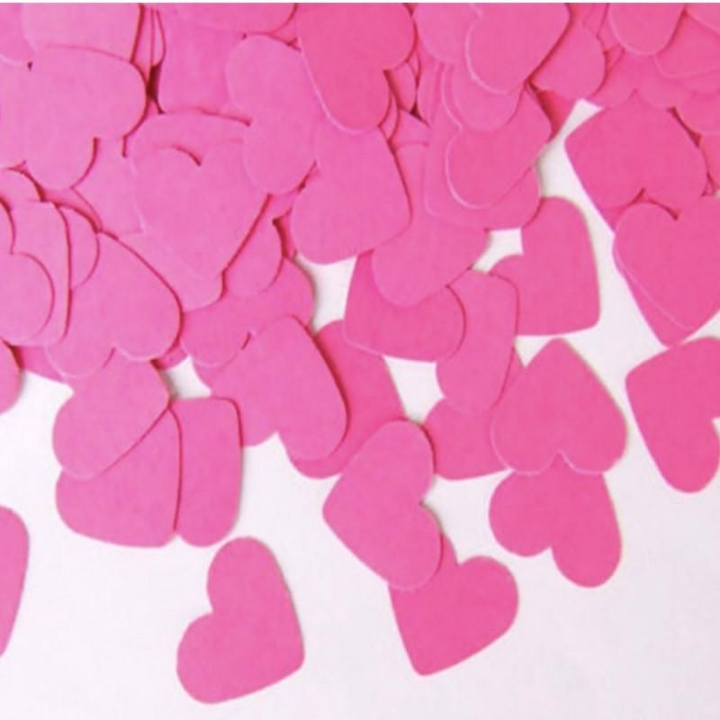 Конфетти Сердца, Розовые, 100 гр (большие, 3.5 см)