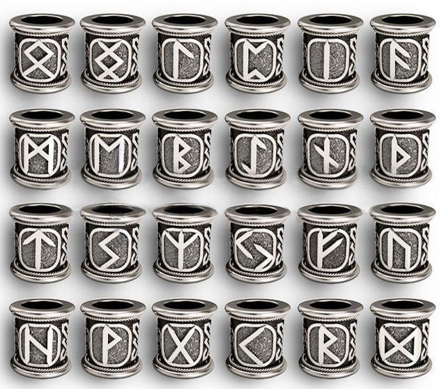 Шармы из серебра 925 пробы с рунами