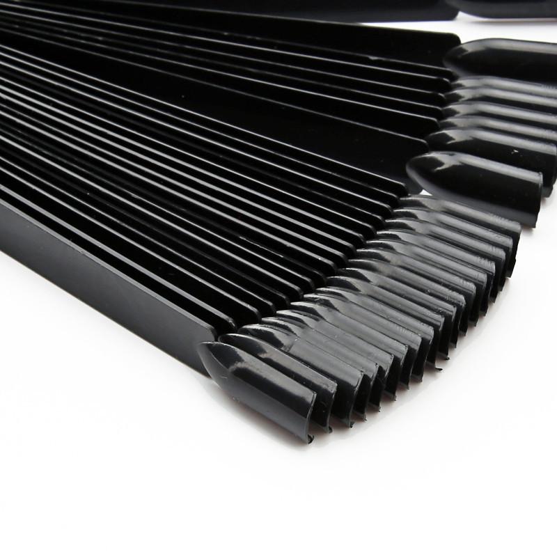 Палитра веерная для гель лака, черная, 50 шт/упак.