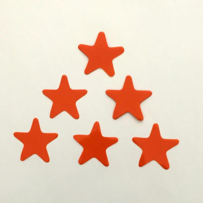 Конфетти Звёздочки, Оранжевые, 250 гр