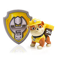 Крепыш Paw Patrol Action Pack Pup & Badge, Rubble