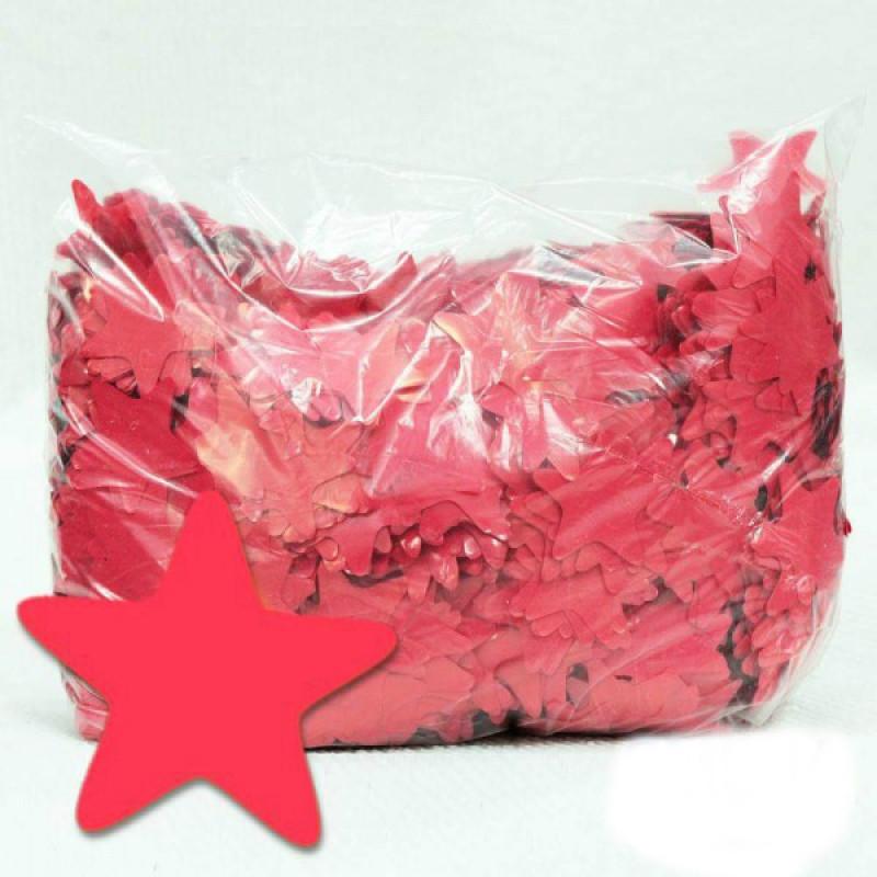 Конфетти Звёздочки, Красные, 100 гр