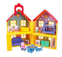 Peppa Pig игровой домик свинки Пеппы США Deluxe House Play Set with 3 Figure
