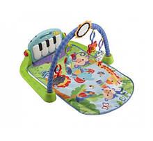 Fisher-Price развивающий коврик Kick and Play Piano Gym, зеленый
