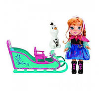 Disney Игровой набор Холодное сердце Анна в санях и Олоф Frozen Princess Anna Adventure Toddler Doll Snow Sleigh and Olaf Snowman Transforming Toy