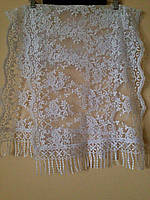 Венчальный шаль белый