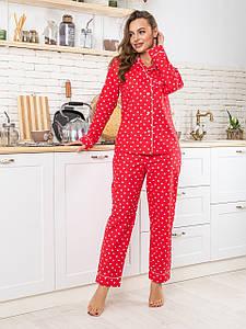 Домашний комплект с брюками Соната красный