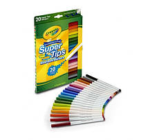Фломастеры Crayola 20 Ct Washable Super Tip Markers