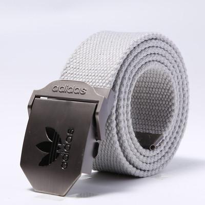 Ремень текстильный светло-серый Adidas (реплика)